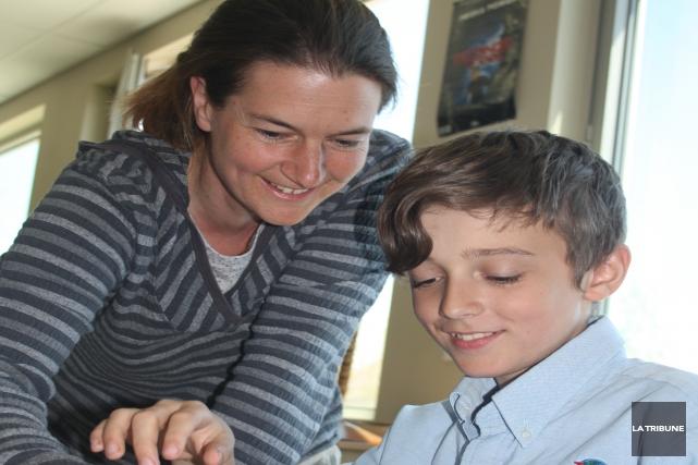 Encore tout jeune, le volet secondaire de l'École Montessori Magog paraît... (La Tribune, Jean-François Gagnon)