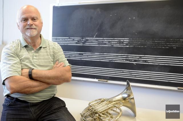 Michel Gingras enseigne au Conservatoire de musique de... ((Photo Le Quotidien, Jeannot Lévesque))