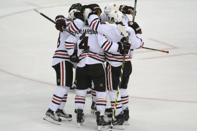 Les Blackhawks convoitent un troisième championnat depuis 2010.... (PHOTO Marilyn Indahl, USA TODAY Sports)