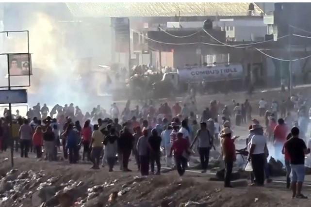 Depuis plusieurs mois, les conflits sociaux autour de... (Image tirée d'une vidéo d'AFP)