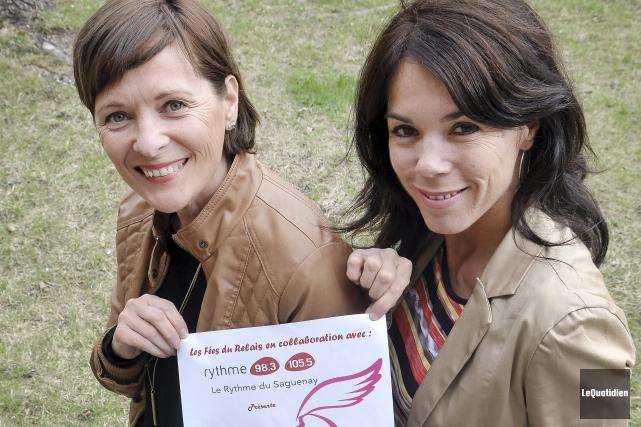 Deux des organisatrices de la Course des Fées,... ((Photo Le Quotidien-Rocket Lavoie))