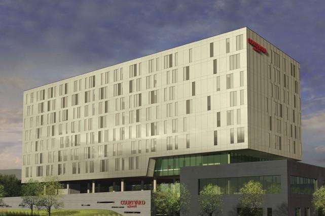 Le Marriott Courtyard de Lebourgneuf sera d'une hauteur... (Image fournie par le Groupe Lixi)