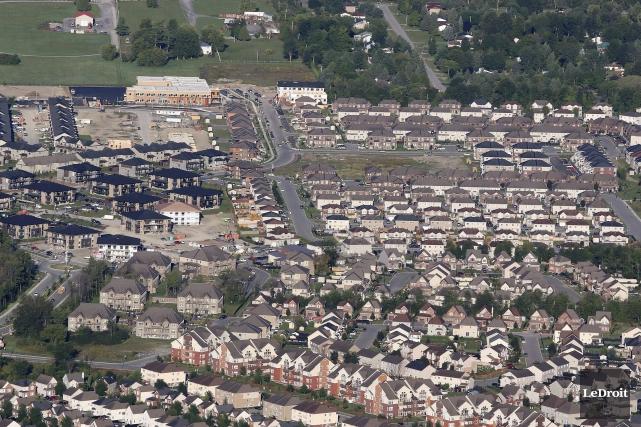 À Gatineau, de nombreux quartiers excentrés ont été... (Patrick Woodbury, LeDroit)