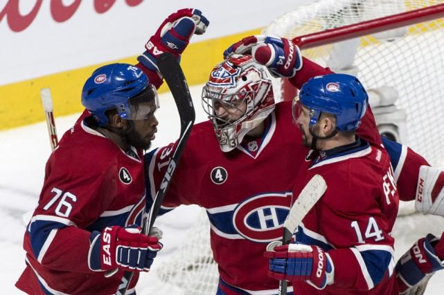 Les joueurs du Canadien ont le sourire beaucoup... (Photo: La Presse Canadienne)