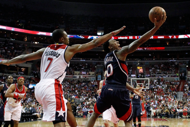 Les Hawks d'Atlanta ont défait les Wizards de... (Photo Alex Brandon, AP)