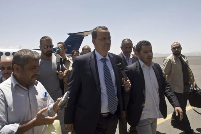 La venue du Mauritanien Ismaïl Ould Cheikh Ahmed... (PHOTO HANI MOHAMMED, AP)