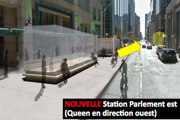 La station Parlement devait se trouver sur le... (COURTOISIE Ville d'Ottawa)
