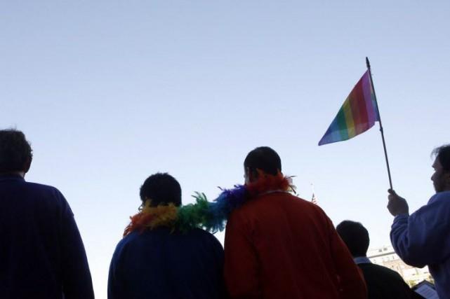 Les homosexuels masculins représentent environ 7% de la... (Photo Ryan Anson, archives AFP)