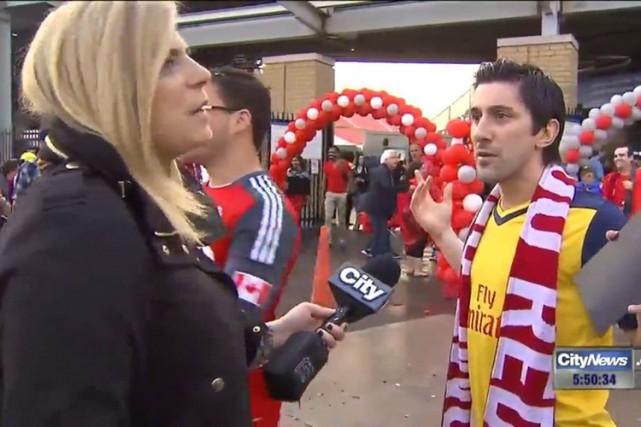 La reporter de CityNews Shauna Hunt a confronté... (Image tirée d'une vidéo)