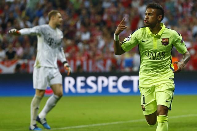 Neymar a été l'unique buteur des siens dans... (Photo: AP)