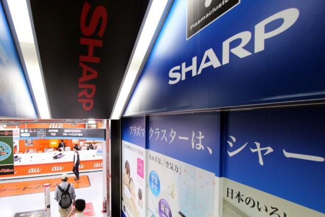 Le conseil d'administration du groupe japonais Sharp a accepté jeudi l'offre de... (Photo Yoshikazu TSUNO, AFP)