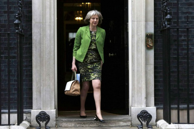 Theresa May, la ministre britannique de l'Intérieur.... (PHOTO SUZANNE PLUNKETT, REUTERS)