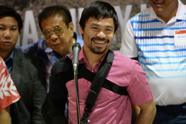 Manny Pacquiao a affirméque lorsqu'il ira mieux, il... (Photo: AFP)