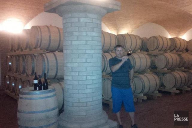 Luca Gaspari lors d'une récente visite en Italie.... (PHOTO LA PRESSE)