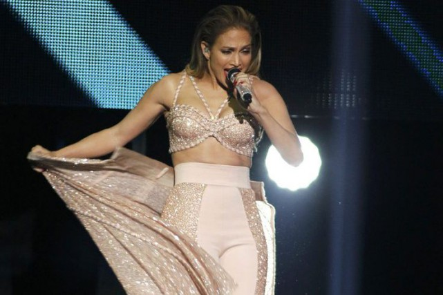 Jennifer Lopez lors des Latin Billboard Awards en... (Photo: archives Reuters)
