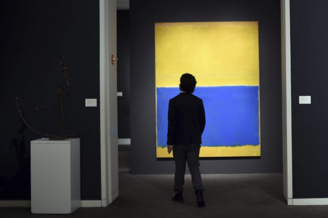 Untitled, (Yellow and Blue) de Mark Rothko a... (Photo: AFP)