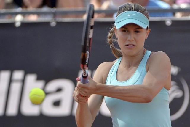 Eugenie Bouchard affrontait Zarina Diyas du Kazakhstan.... (AP, Maurizio Brambatti)