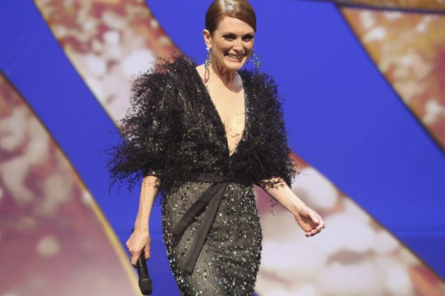 Julianne Moore a prononcé la traditionnelle déclaration d'ouverture... (Photo: AP)