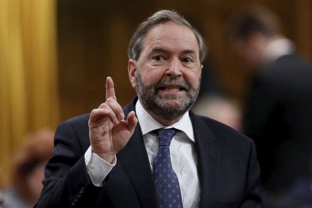 Le chef du NPD, Thomas Mulcair, a fait... (Photo Chris Wattie, Reuters)