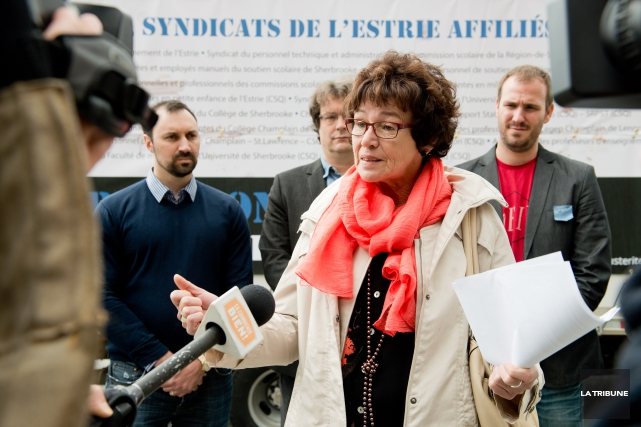 Louise Chabot, présidente de la CSQ.... (Archives, La Tribune)