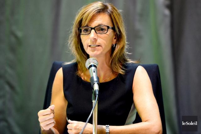 La mairesse de Sainte-Brigitte-de-Laval, Wanita Daniele, a été... (Photothèque Le Soleil, Erick Labbé)