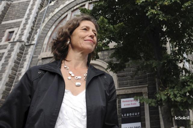 Johanne Elsener, la présidente d'Héritage Québec... (Photothèque Le Soleil)