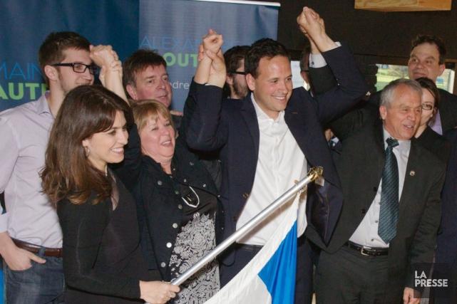Comme lorsqu'elle appuyait la candidature à la chefferie... ((Photo courtoisie, René Bouchard))