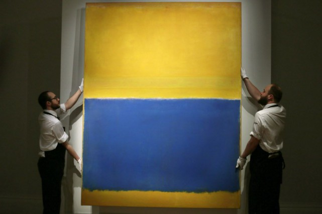 Mardi, la toile de l'artiste Mark Rothko, Untitled, (Yellow... (Photo 1998 Kate Rothko Prizel & Christopher Rothko / Artists Rights Society (ARS), Tim Ireland, AP)