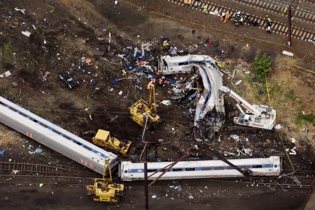 Mardi soir, le train188 de la compagnie ferroviaire... (PHOTO LUCAS JACKSON, REUTERS)