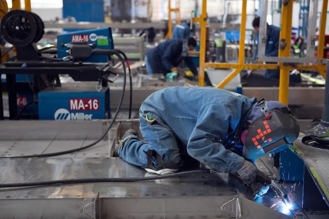 La production industrielle aux États-Unisa reculé de 0,2%... (PHOTOSUSANA GONZALEZ, ARCHIVES BLOOMBERG)