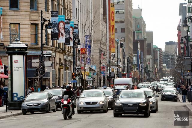 La rue Sainte-Catherine Ouest obtient le statut de... (PHOTO ROBERT SKINNER, ARCHIVES LA PRESSE)