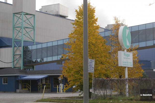 L'usine Kruger à Trois-Rivières.... (Photo: Stéphane Lessard Le Nouvelliste)