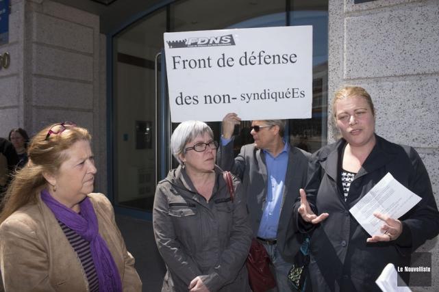 Manon Brunelle, porte-parole du Front de défense des... (Photo: Stéphane Lessard, Le Nouvelliste)