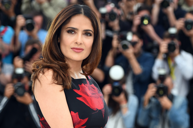 Salma Hayek... (Photo Anne-Christine Poujoulat, AFP)