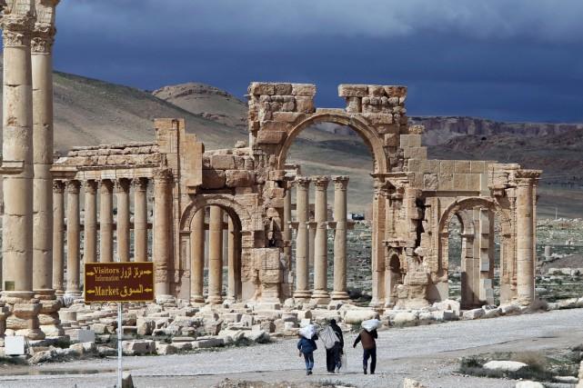 La valeur historique de Palmyre, située à environ... (PHOTO JOSEPH EID, ARCHIVES AFP)
