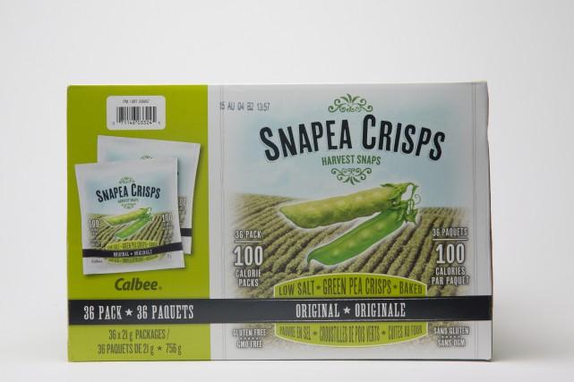Croustilles de pois verts Snapea Crisps... (PHOTO IVANOH DEMERS, LA PRESSE)