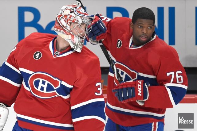 P.K. Subban, ici avecCarey Price,devient l'athlète professionnel canadien... (Photo Bernard Brault, archives La Presse)