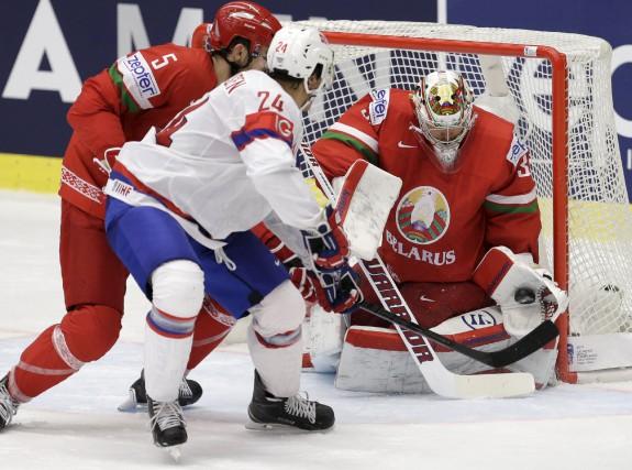 Le gardien Franco-Ontarien Kevin Lalande affrontera le Canada... (Agence France-Presse)
