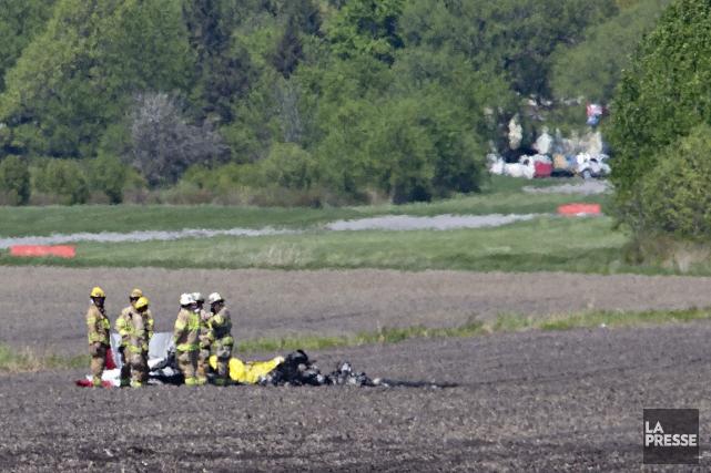 L'écrasement aurait eu lieu dans un champ, à... (PHOTO DAVID BOILY, LA PRESSE)