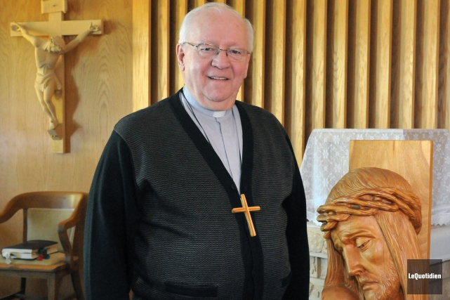 L'évêque de Chicoutimi, mgr André Rivest.... ((Archives Le Quotidien))