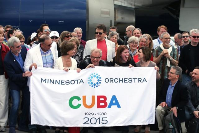 La dernière tournée sur l'île de l'orchestre symphonique... (Photo: AP)