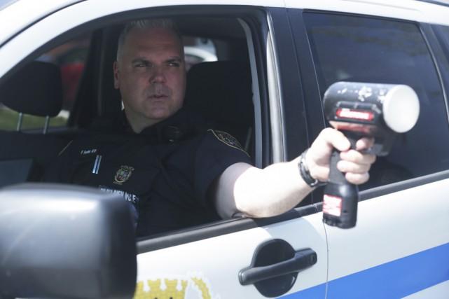 Les policiers accentueront leur présence sur les routes... (photo Catherine Trudeau)