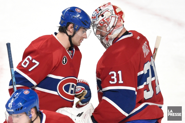 Max Pacioretty et Carey Price ont maintes fois... (Photo Bernard Brault, La Presse)