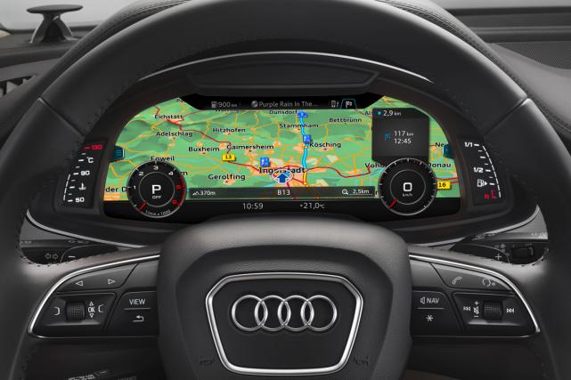 Un aperçu du nouveau GPS mis au point... (Photo fournie par Audi)