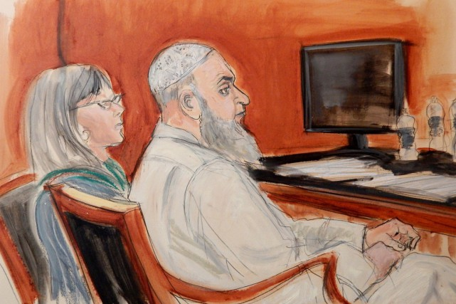 Khalid al-Fawwaz avait été reconnu coupable le 26... (ILLUSTRATION ELIZABETH WILLIAMS, ARCHIVES AP)