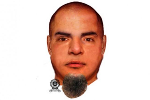 Le portrait-robot du suspect.... (IMAGE FOURNIE PAR LA SÛRETÉ DU QUÉBEC)