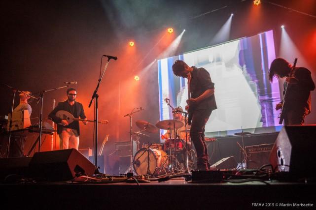 Le groupe Suuns et Jerusalem In My Heart... (Photo fournie par Martin Morissette pour le FIMAV)