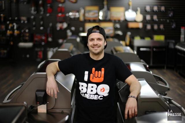 Max Lavoie a ouvert unesuccursale de BBQ Québec... (PHOTO MARTIN CHAMBERLAND, LA PRESSE)