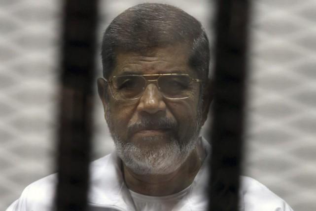 Premier président démocratiquement élu en Égypte, MohamedMorsi a... (Photo archives AFP)