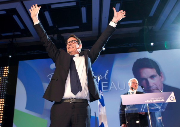 Pierre Karl Péladeau a remporté la course à... (Photo La Presse Canadienne)